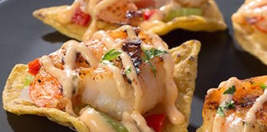 Cajun Grilled Shrimp Nachos